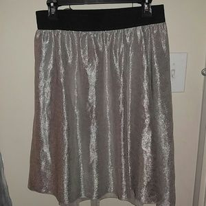 Silver sparkle party skirt!